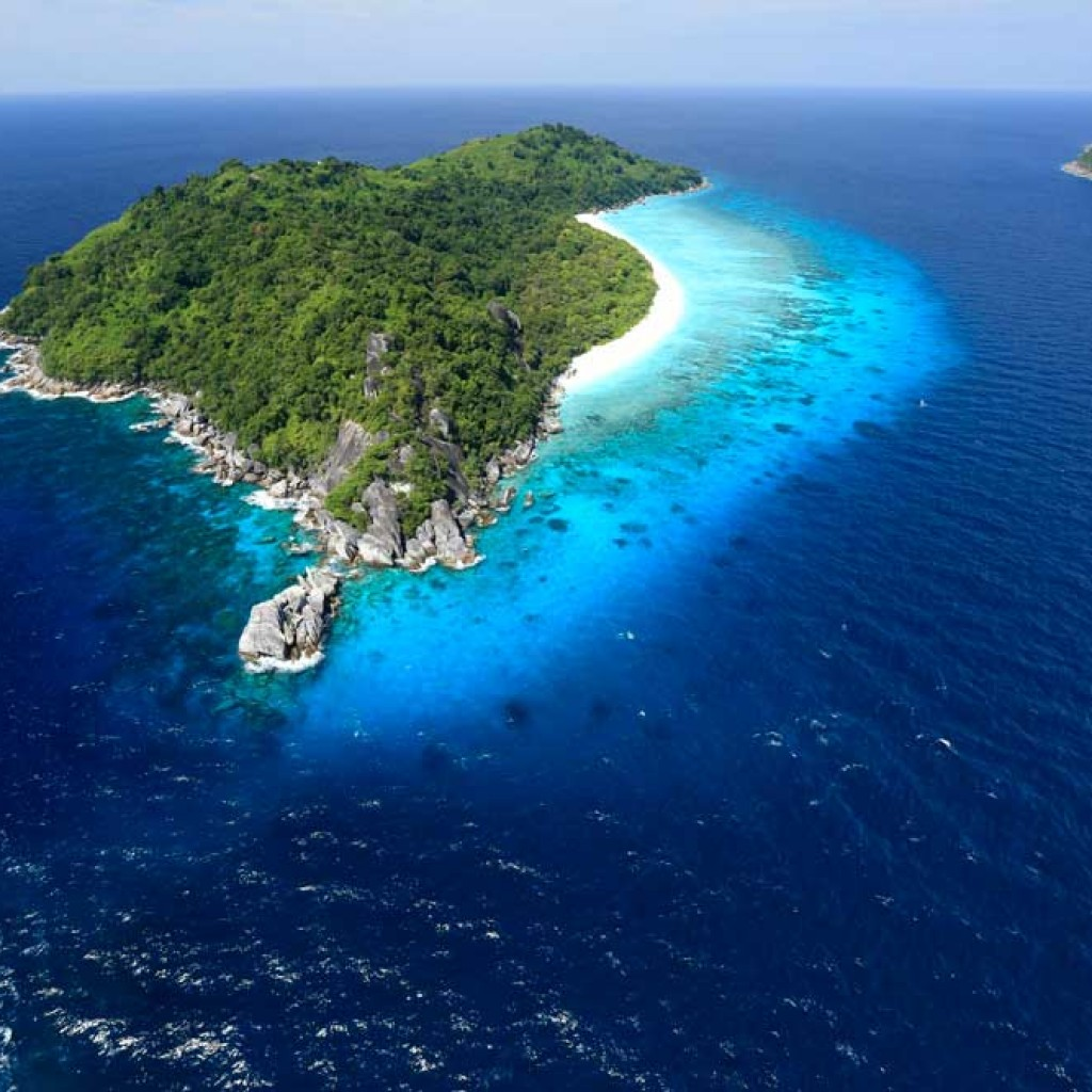 Arial view of the Similans