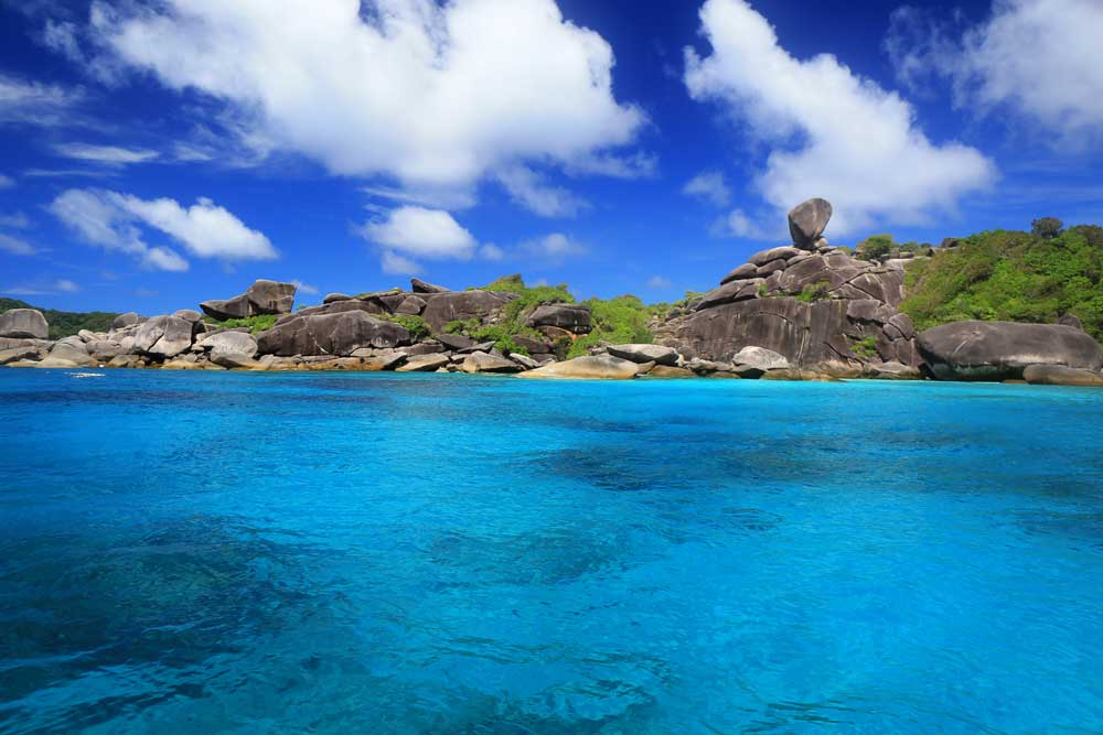 Donald Duck Bay in the Similan Islands