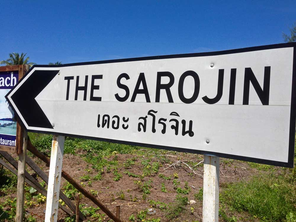 Sign to the Sarojin