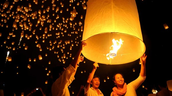 The Yi-Peng lantern festival in Chiang Mai
