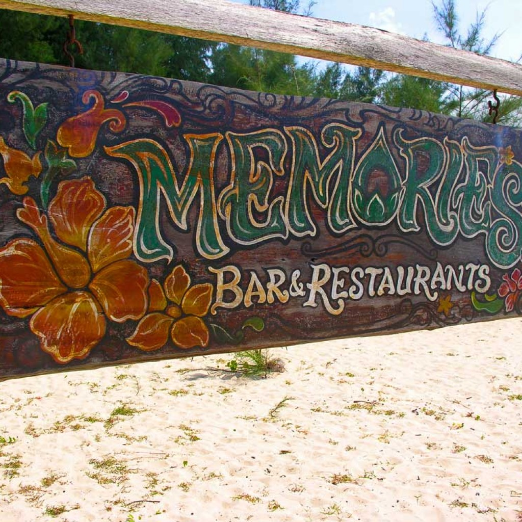 Memories Bar Sign