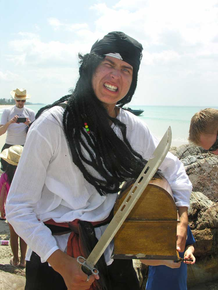Raya diver dressed as a Pirate
