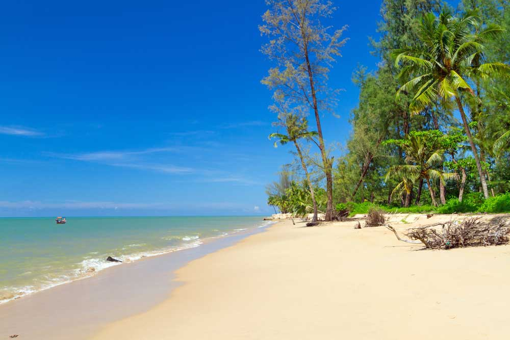 Mile of unspoilt beaches in Khao Lak