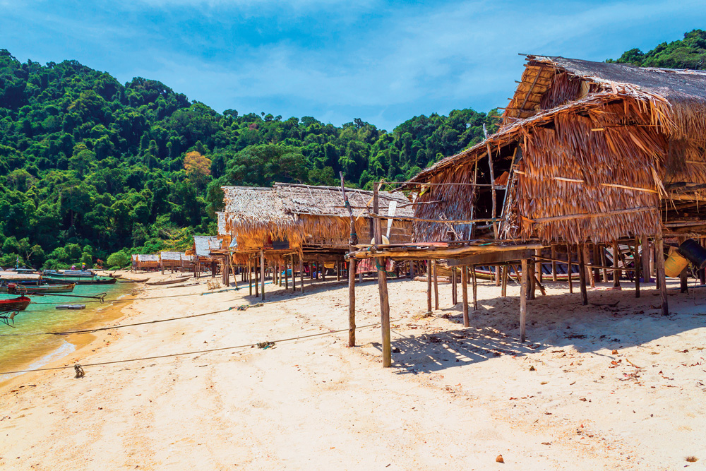 Moken houses at Koh Surin