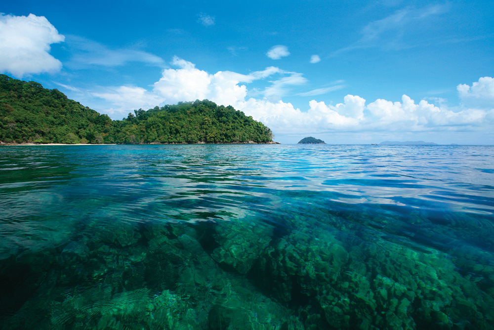 under the surface at the Surin Islands