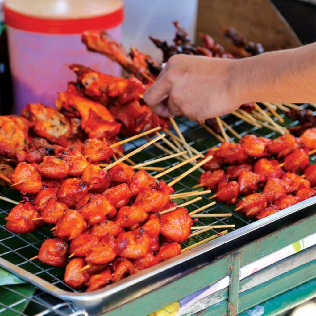 Barbequed Satay in Khao Lak