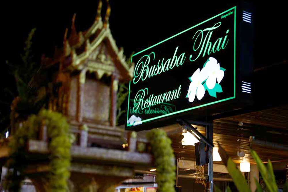 Bussaba Restaurant Sign