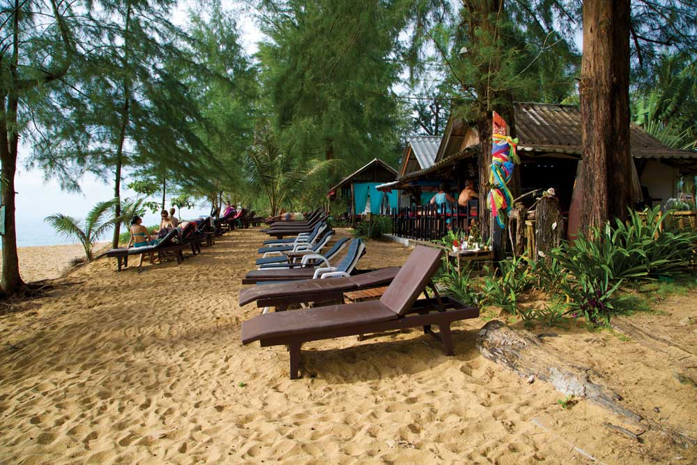 Sunloungers on the Beach in Khao Lak at Peter's Bar