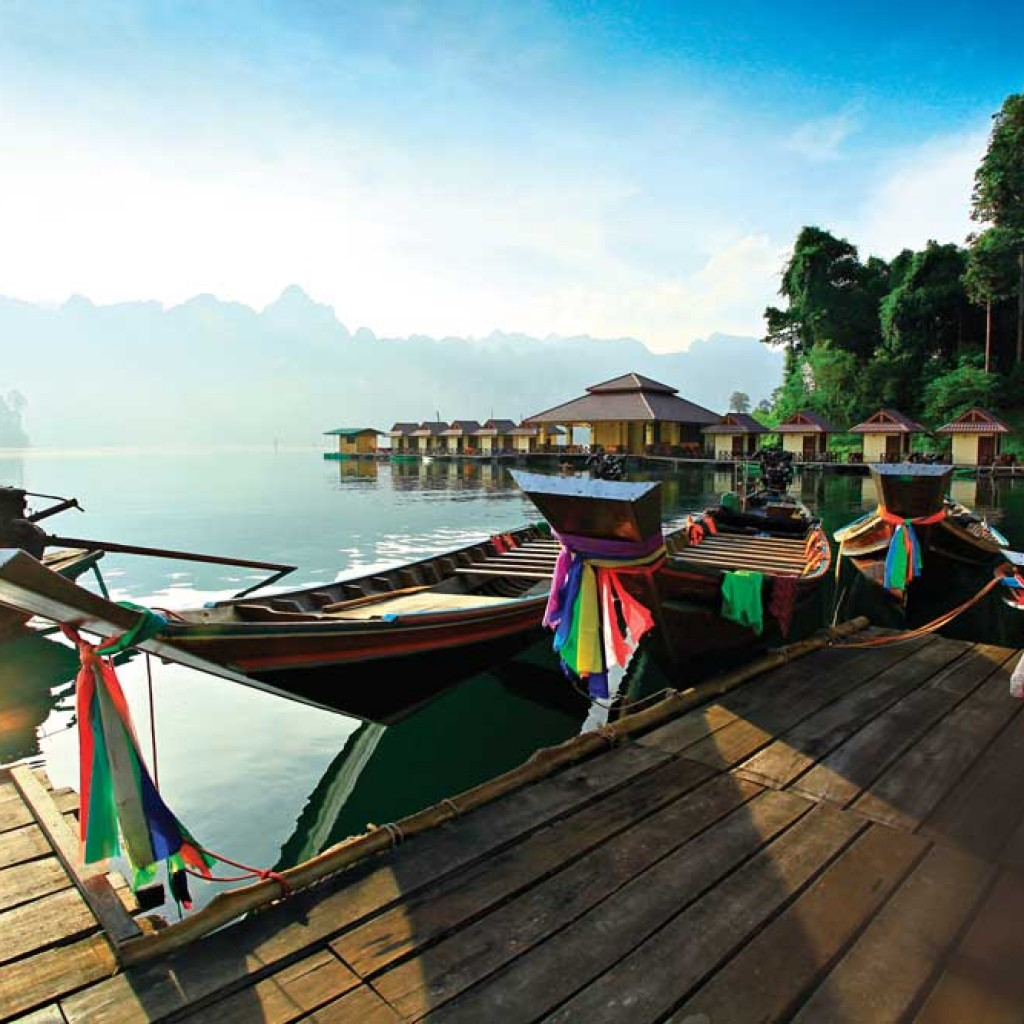 Longtails on Khao Sok Lake