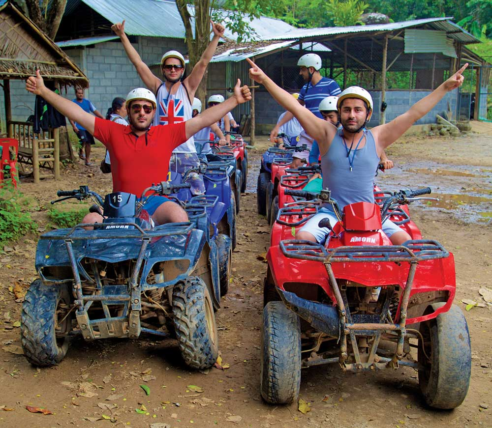 Riding ATVs near Khao Lak