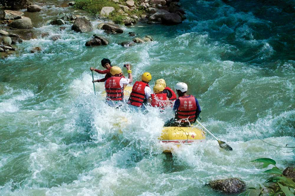 White water rafting near Khao Lak