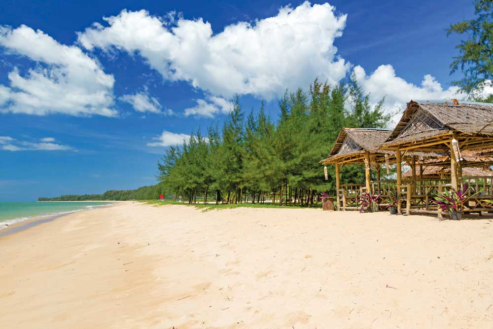 Koh Kho Khao's western coast has endless beaches lined by Casuarina trees