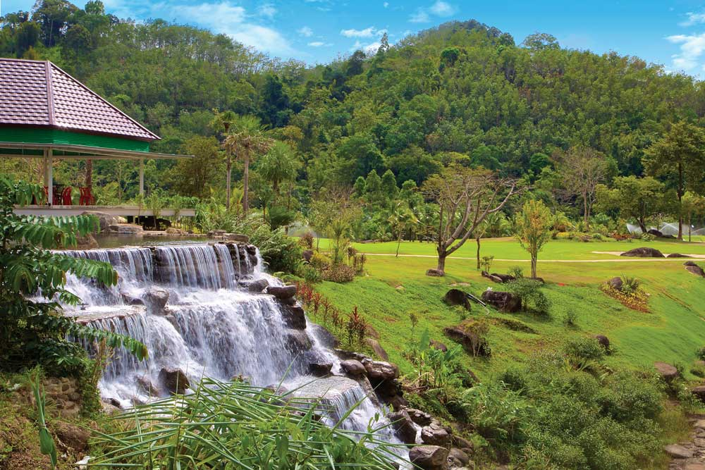 waterfall at Katathong Golf Course