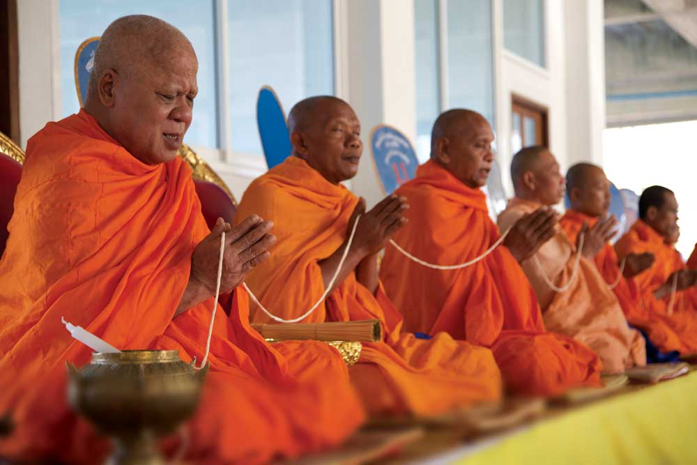 traditional Buddhist blessing of the venue
